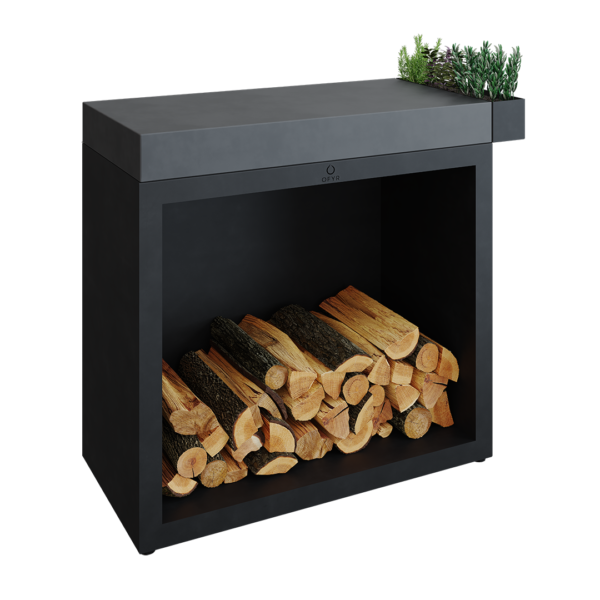 Ofyr butcher block storage 90 black céramique gris anthracite - Hervé Gehin