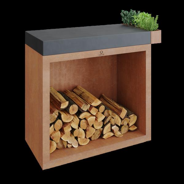 Ofyr butcher block storage 90 corten céramique gris anthracite - Hervé Gehin