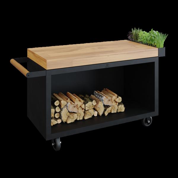 Ofyr mise en place table black 135 pro bois de teck - Hervé Gehin
