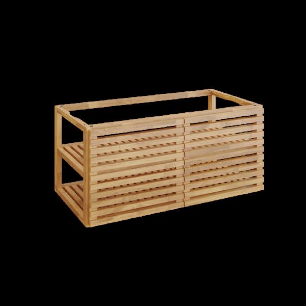 Ofyr storage insert pro avec 2 portes bois de teck grand - Hervé Gehin