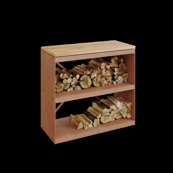 Ofyr wood storage corten dressoir - Hervé Gehin