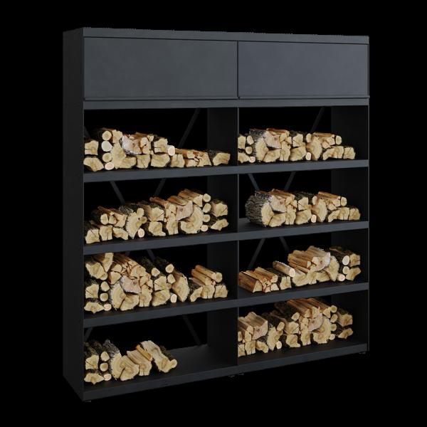 Ofyr wood storage black 200 - Hervé Gehin