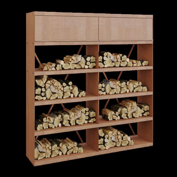 Ofyr wood storage corten 200 - Hervé Gehin
