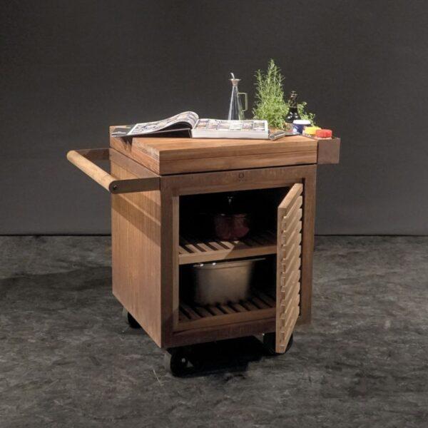 Ofyr storage insert avec une porte bois de teck petit - Hervé Gehin