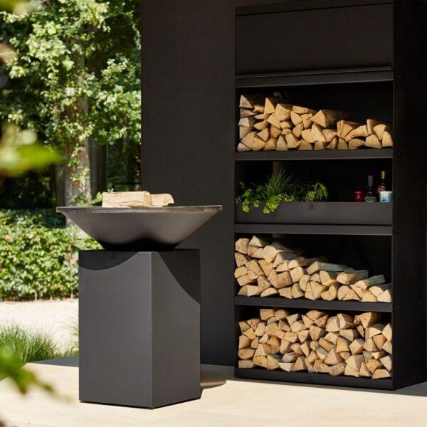 Ofyr wood storage black 100 - Hervé Gehin