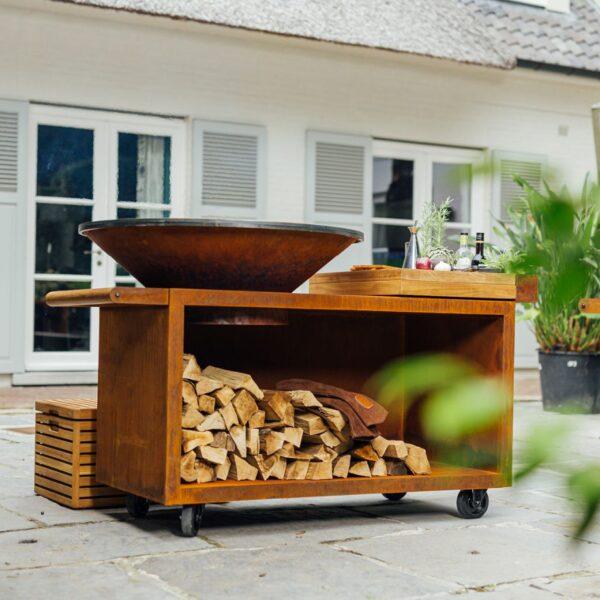 Ofyr island corten 100 pro bois de teck - Hervé Gehin