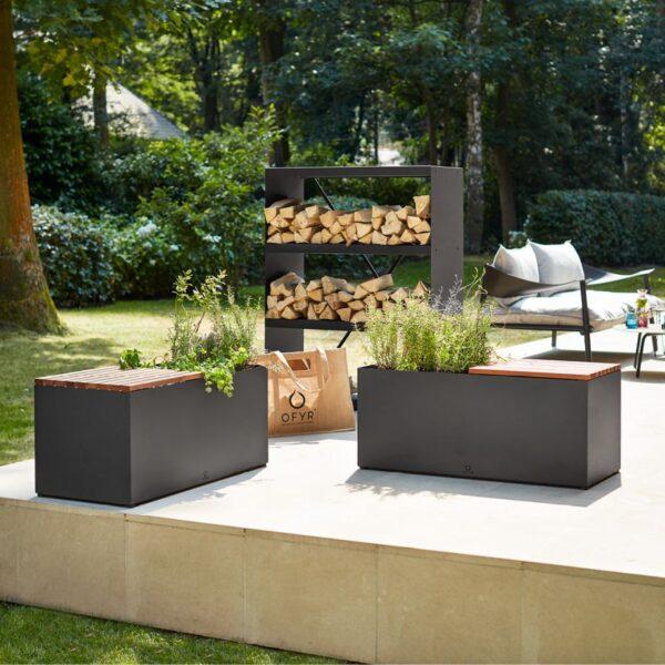 Ofyr herb garden bench black - Hervé Gehin