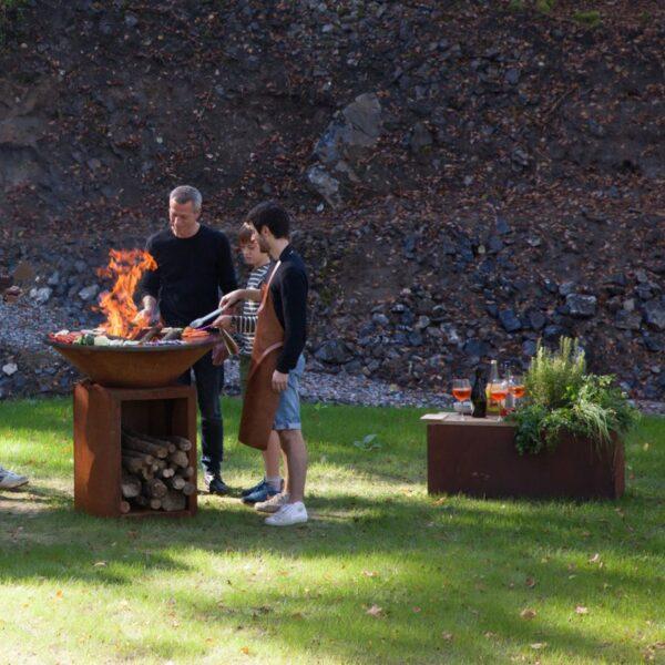 Ofyr herb garden bench corten - Hervé Gehin