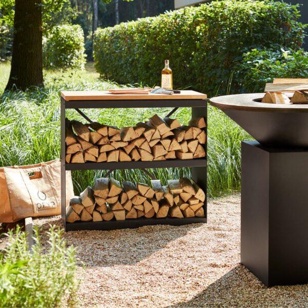 Ofyr wood storage black dressoir - Hervé Gehin
