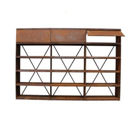 Ofyr wood storage corten 300 - Hervé Gehin
